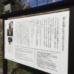 """辻川山公園に""""逆さ天狗""""の物語看板が設置"""