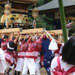 (開催されました)甘地の八幡神社祭り・甘地獅子舞