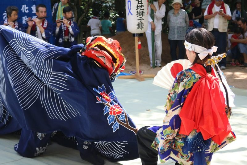 甘地の八幡神社祭り
