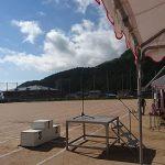 神崎郡内中学校で体育大会が開催されました。
