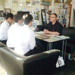 高校生の生徒さんによる企業インタビューが行われました | 新栄自動車整備商会