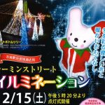 (開催終了)12月15日(土)イルミネーション点灯式 | JR寺前駅前・カーミンの観光案内所前広場