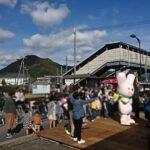 JR播但線新野駅で「水車の里 新野」第12回秋の収穫祭