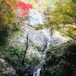 不動の滝(水ヶ野滝「雌滝」)で紅葉。| 神河町新田