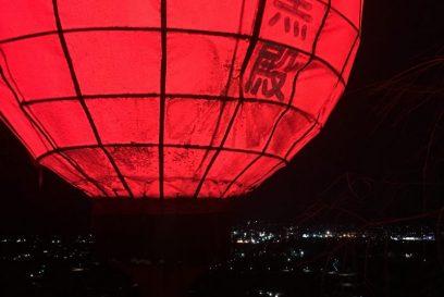 (福崎町西治)めちゃめちゃ気になってた山の赤い光を追跡。  願満大黒殿