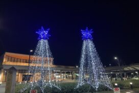 「ふくさきルミネール」福崎駅前で点灯開始 駅前を明るく、活性化