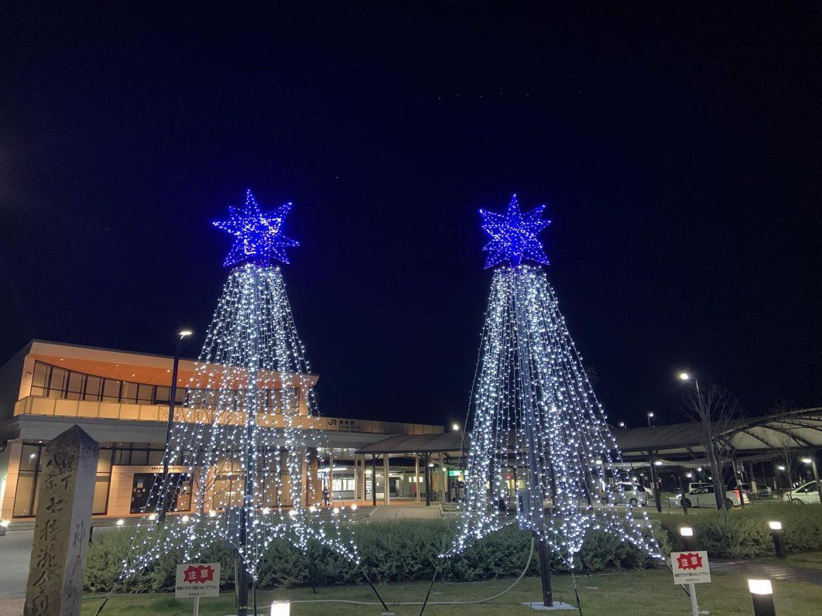 「ふくさきルミネール」福崎駅前で点灯開始|駅前を明るく、活性化