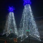 福崎駅前で「ふくさきルミネール」点灯開始