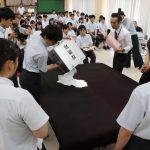 神崎高等学校で3年生76名を対象に選挙出前授業・投票体験を実施|神河町