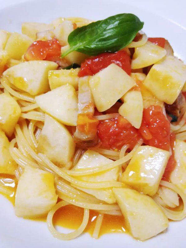 (季節数量限定)白桃とフルーツトマトのスパゲッティーニ | ラ・ミア・カーサ