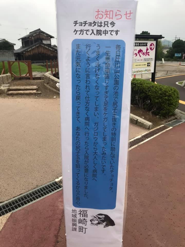 (福崎町)チョチョタ入院中|辻川山公園