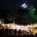 灯篭の灯りのもと楽器の音色と茶道の茶会|第30回しそう波賀城観月会