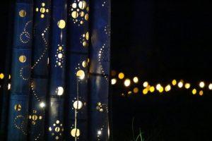 今年のイルミネーションのテーマは「竹」