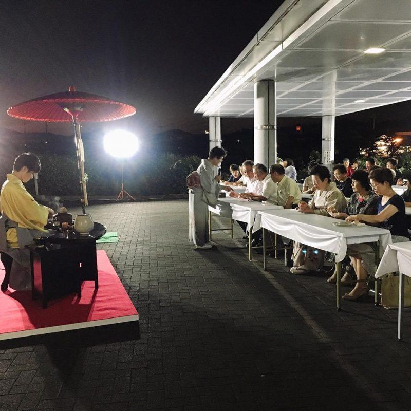 (開催されました)加西市健康福祉会館で加西観月茶会