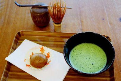 本格的なお抹茶に、美味しそうな和菓子