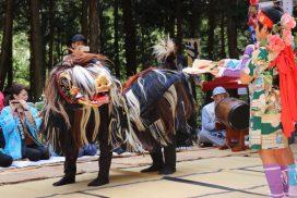 中学生が勇壮な舞い、宇原獅子舞|宍粟市