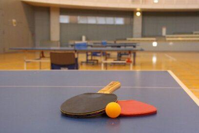 (多可町)オリンピック応援イベントとして、アリーナを卓球練習場として無料開放