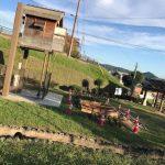 福崎町|辻川山公園、妖怪天狗小屋の下でなにやら工事