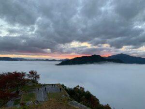 竹田城跡雲海|気温差により、雲海の発生確率が高く