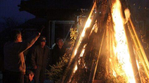 火に願いを。市川町西川辺で紫灯