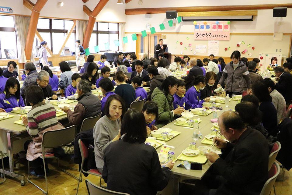 【神河町】閉校まえに越知谷小学校で感謝祭と授業参観