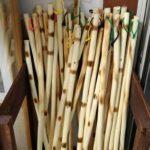 【多可町】軽くて丈夫な杉原紙の原料コウゾの杖