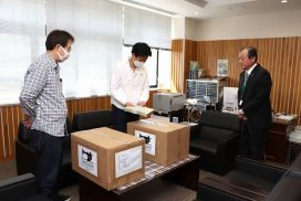 【多可町】町内の事業者が不織布マスク5,000枚を寄贈