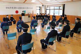 【神河町】神河町消防団 入退団式・辞令交付式が行われました