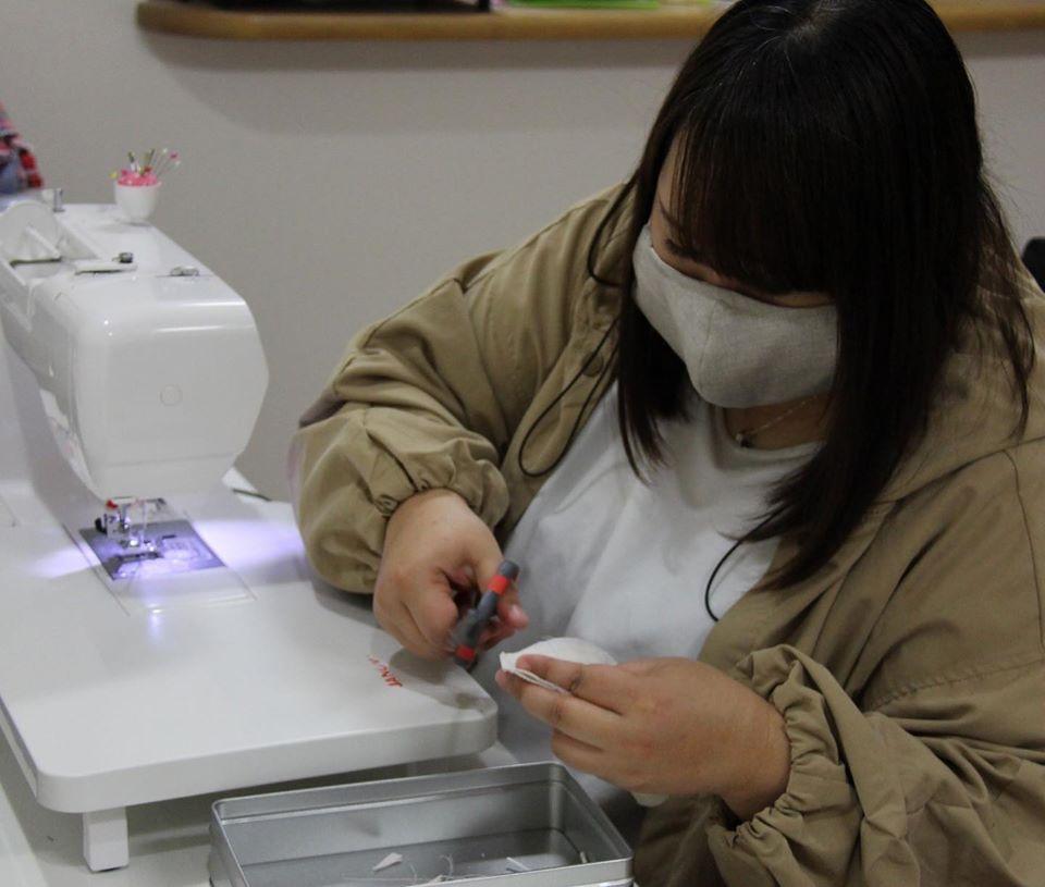 【多可町】播州織(ばんしゅうおり)の生地を使ったマスク生産、全力で