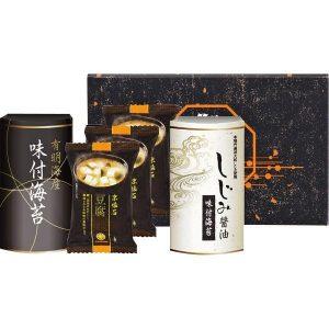 マルコメフリーズドライみそ汁&有明海産・しじみ醤油味付海苔 MA-15 2914-012