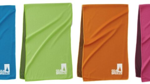 【SEA BREEZE】クーラータオル|濡らして、絞って、振るだけ熱中症対策