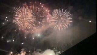 【キズナハナビ】加西インターカントリークラブで花火が打ち上げ