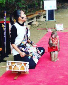 【書写山圓教寺】神戸モンキーズ劇場のお猿さんがやってくる