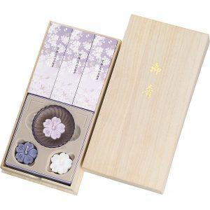 宇野千代のお線香 淡墨の桜・浮きローソクセット(桐箱入) 37109 2949-100