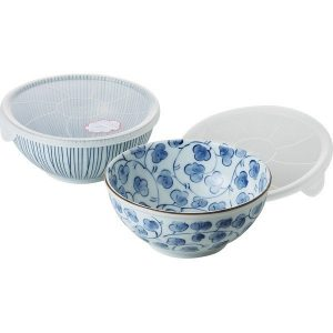 藍絵変り 組レンジ鉢(大) 31858 7615-048