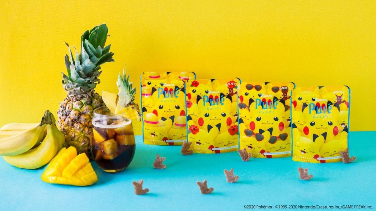 【ピュレグミ】でんげきトロピカ味2|ピカチュウがいっぱいパッケージ