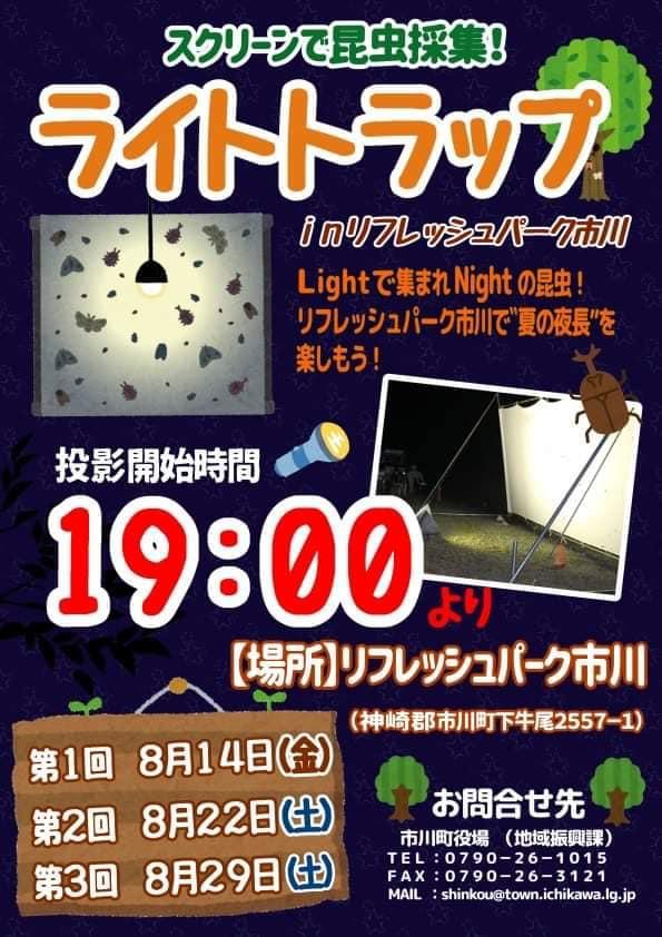 ライトトラップ in リフレッシュパーク市川|夏の夜にスクリーンで昆虫採集