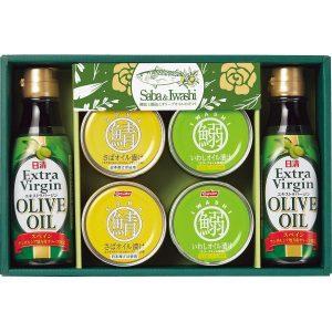鯖缶と鰯缶とオリーブオイルのギフト SIO-30 2711-013