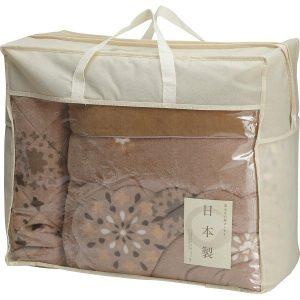 日本製 吸湿発熱わた入り やわらかタッチ毛布ふとん&敷パットセット KS-3015 2865-046