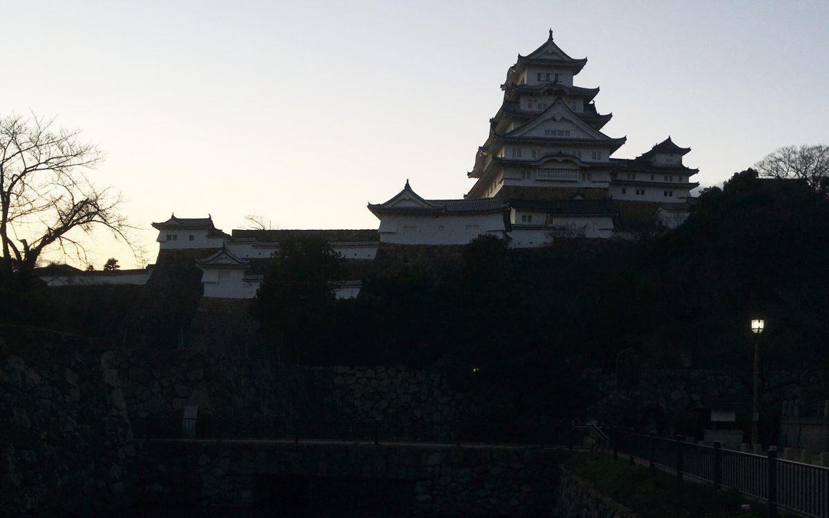 姫路城 夕方