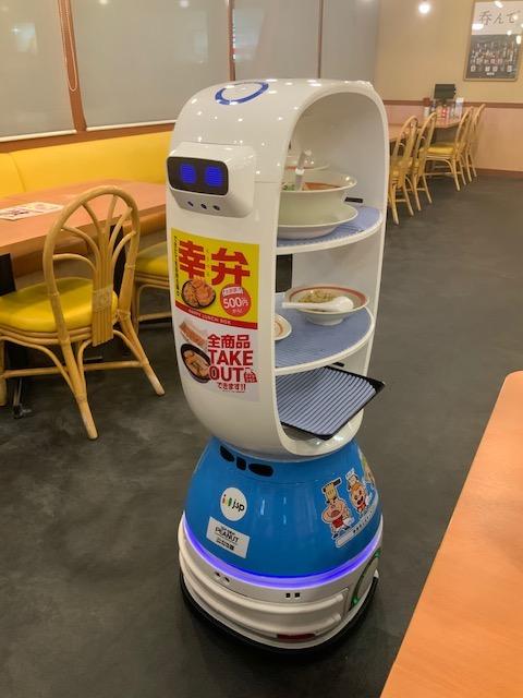 【幸楽苑】非接触型の配膳ロボット「K-1号」の実証実験を開始|ラーメン業界日本初