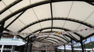 【福崎駅】駅前を元気に!駅前ハンカチプロジェクト開催中