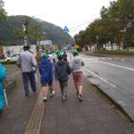 わんぱく教室生、朝来市内でマラソン距離を歩く