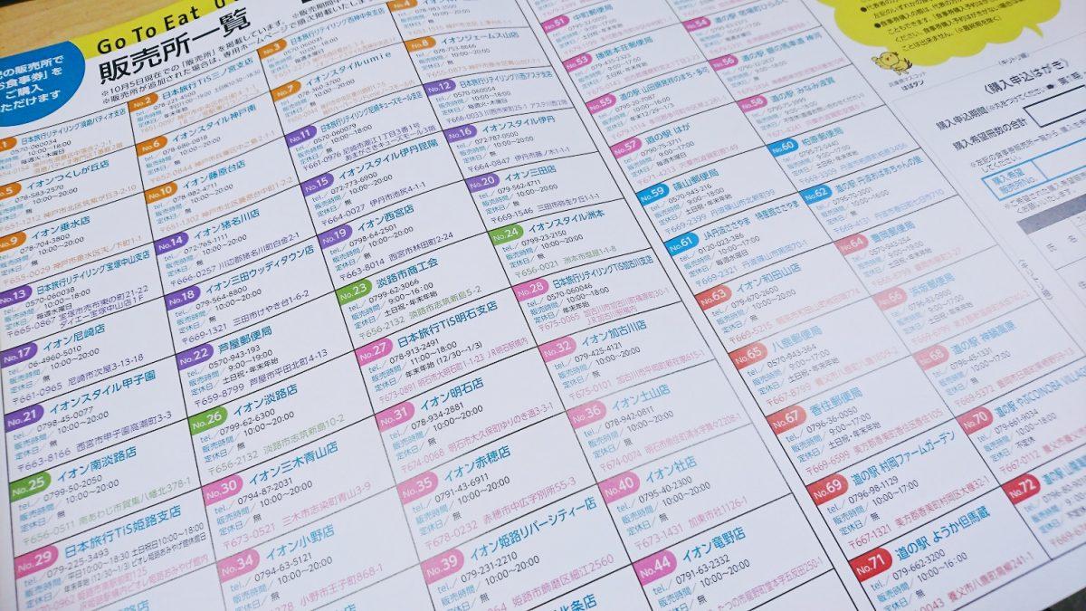 【Go To Eat】ひょうごキャンペーン|「お食事券」の販売所はココ