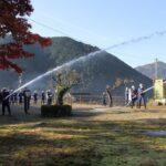 多可町消防団の実践訓練が行われました 加美区の様子