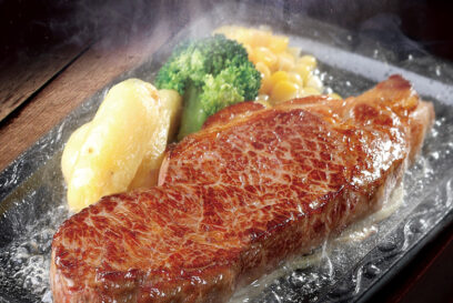 【ステーキ宮】厚切り!!お肉!!US産ビーフ厚切りサーロインステーキ登場