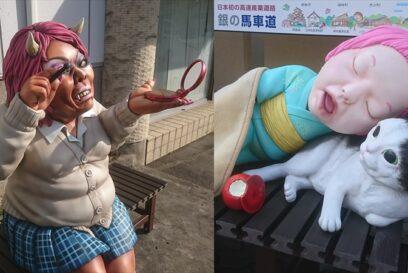 【妖怪ベンチ】あたらしい仲間が二人追加|山姥・座敷童子|福崎町