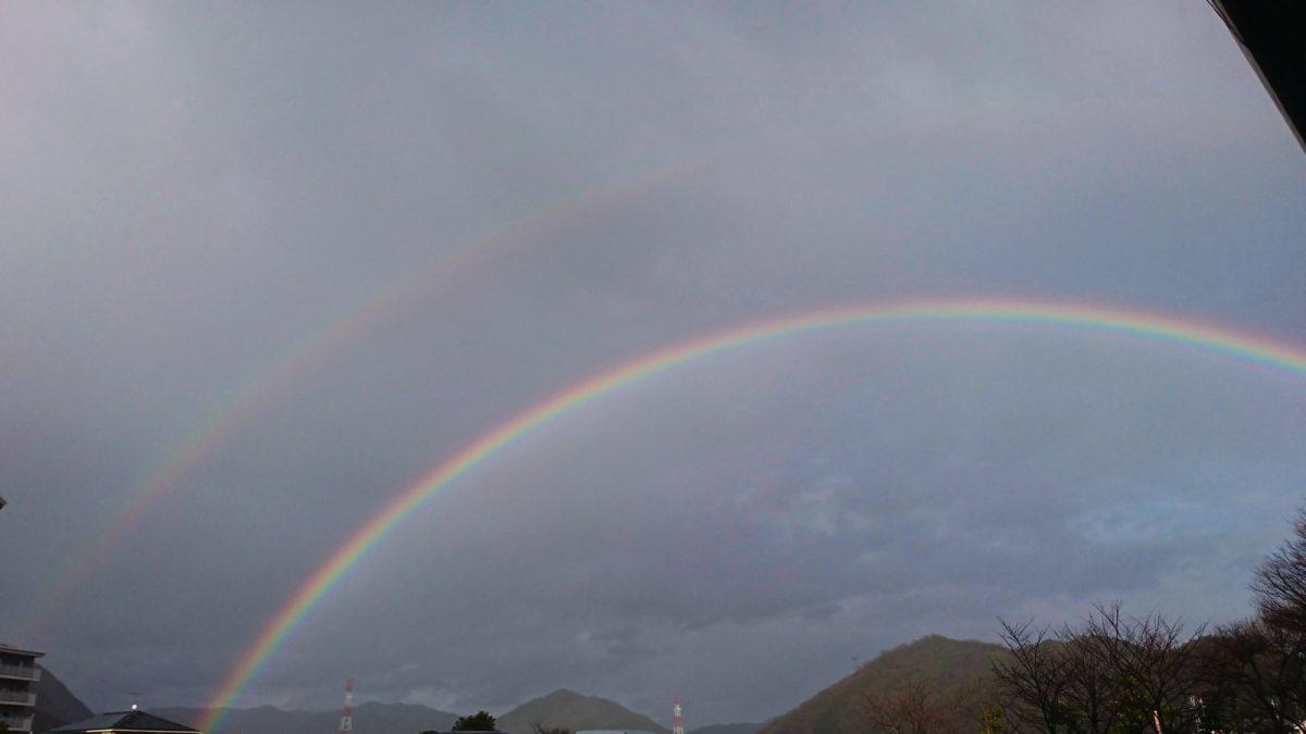 【虹】二重のレインボーくっきり|福崎町
