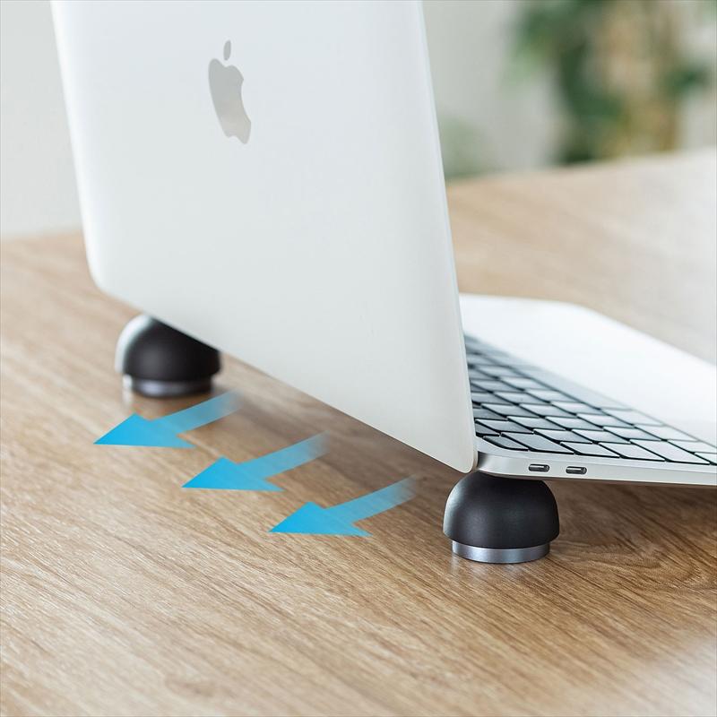 【サンワサプライ】持ち運び便利!ノートパソコン用ボール型スタンド