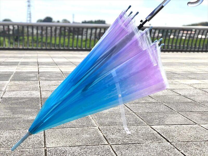 オーロラのようなビニール傘が通販で販売開始|ヴィレヴァン